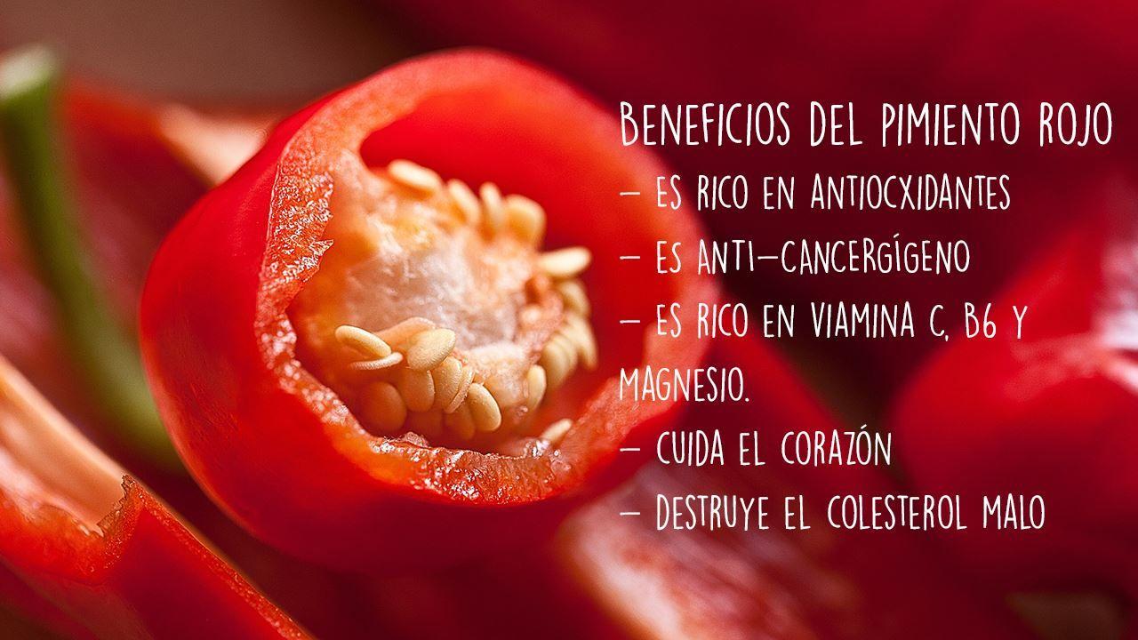 Descubre los beneficios del pimiento rojo. #5Cook #recetas #foodies #beneficios #cocina