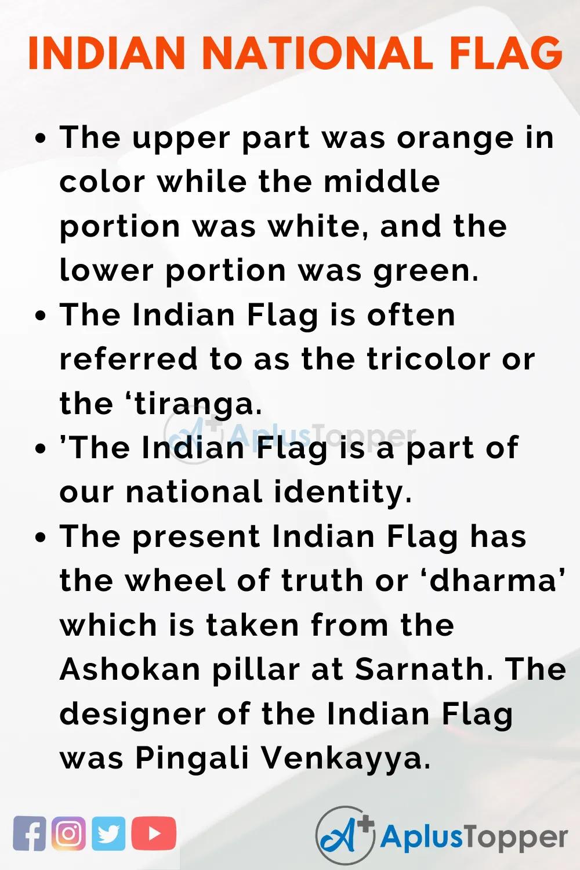 Essayonindiannationalflag Indiannationalflagessay Aplustopper National Flag Essay Questions India