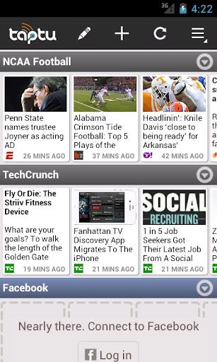 Taptu Your custom newspaper. Get curated news or mix