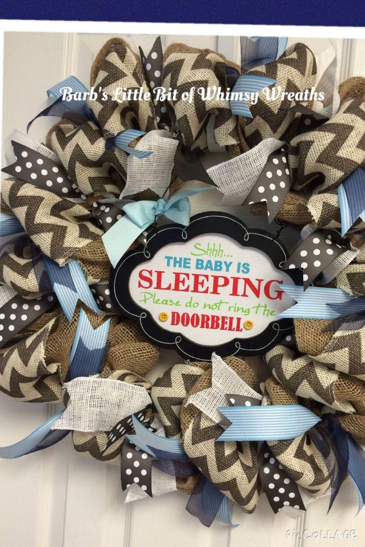 Shhh ! Baby Sleeping Infant Wreath for boy or girl ...