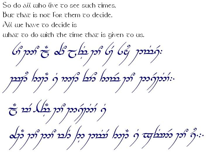 Elvish Lord Of The Rings elvish translator from...