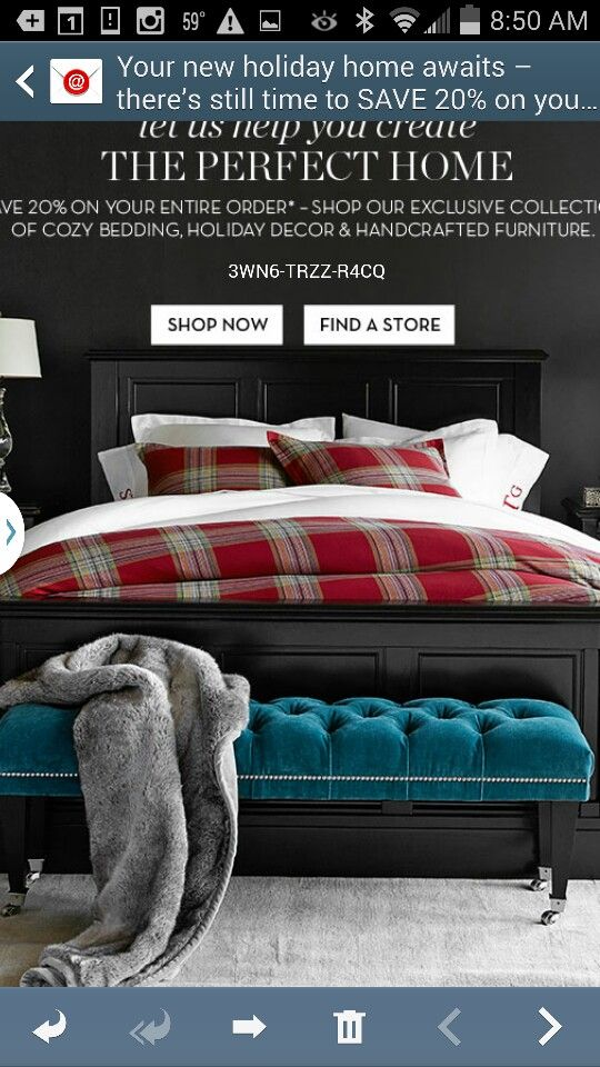 Pottery Barn Cozy bed, Pottery barn, Furniture