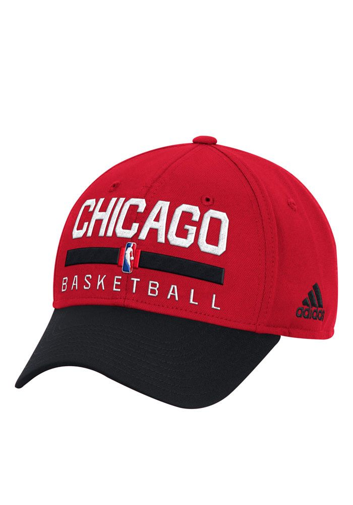 a9a60856080 Adidas Chicago Bulls Mens Red 2016 Practice Adjustable Hat ...