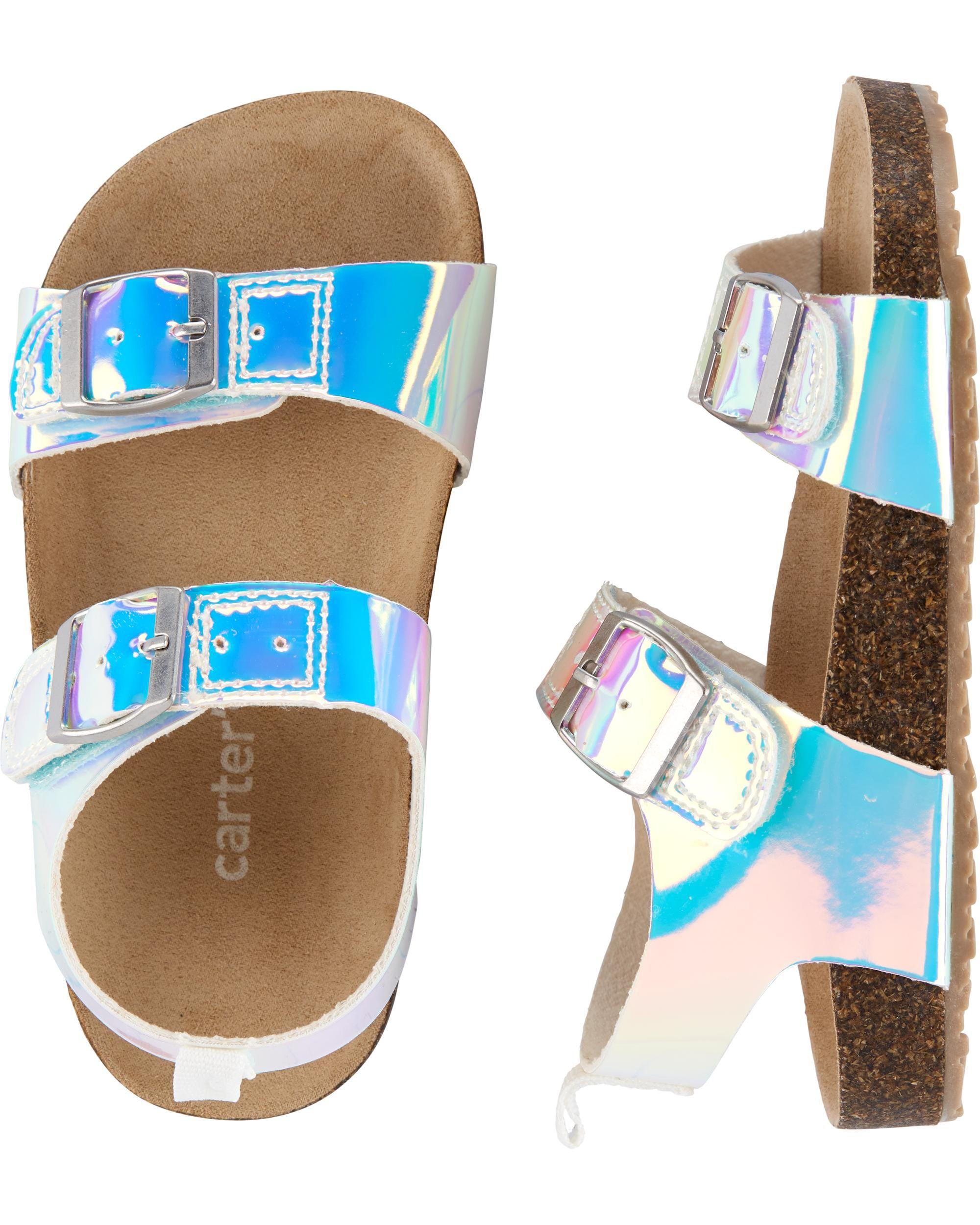Toddler sandals girl, Cork sandals, Carters