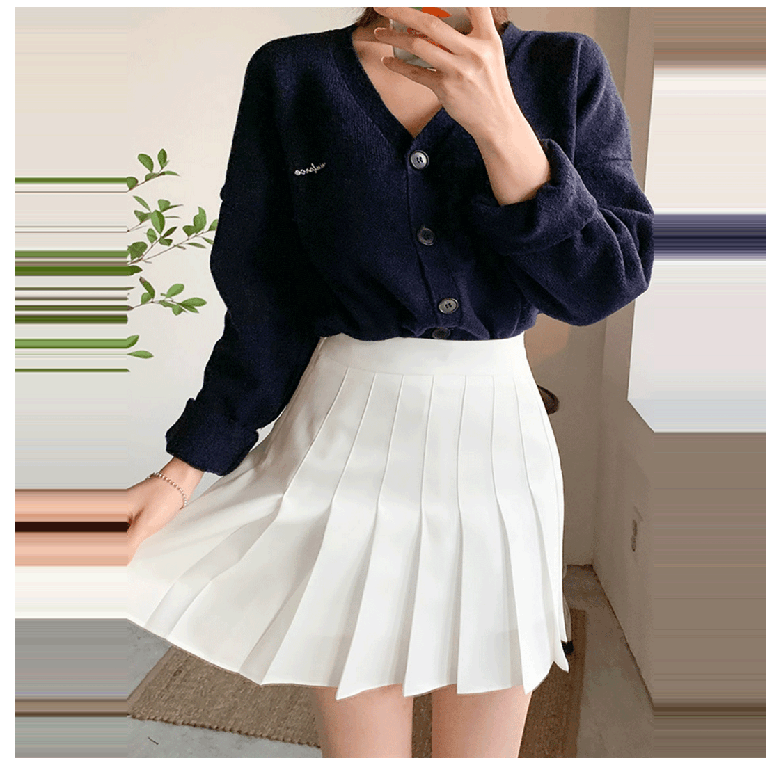 Lovely Tennis Culottes Pants #white #pleated #skirt #outfit