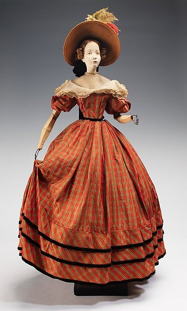 """1832 Doll"" Marcelle Dormoy (French) Designer: Rose Descat  Designer: Antoine (French) Credit Line: Brooklyn Museum Costume Collection at The Metropolitan Museum of Art, Gift of the Brooklyn Museum, 2009; Gift of Syndicat de la Couture de Paris, 1949"