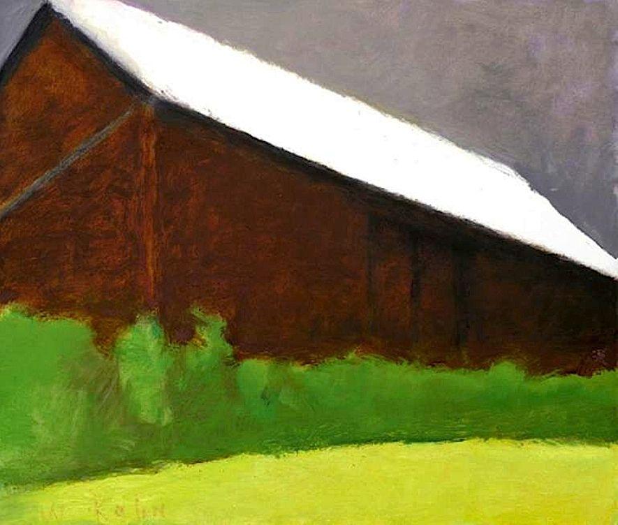 Wolf Kahn Brown Barn, 2007