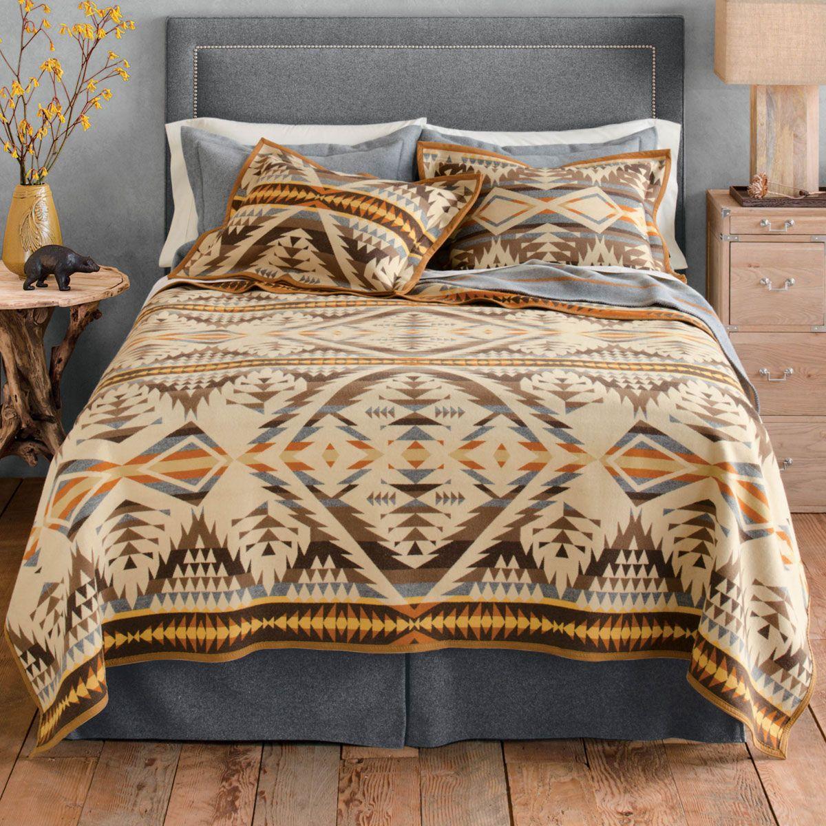 Diamond Desert Blanket Queen Western bedding