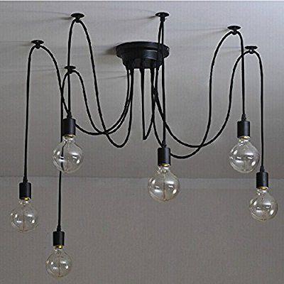 6 pcs luminaire suspension style européen moderne ikea lampe pendante lampe plafonnier diy