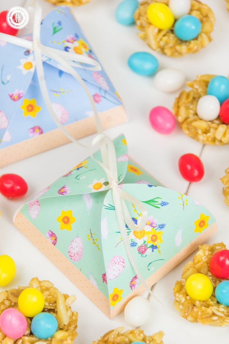 Honey almond easter nests and cute treat boxes nest easter and honey make cute honey almond easter nests they have a granola like texture and make beautiful gifts for easter packaged in our printable treat boxes negle Image collections