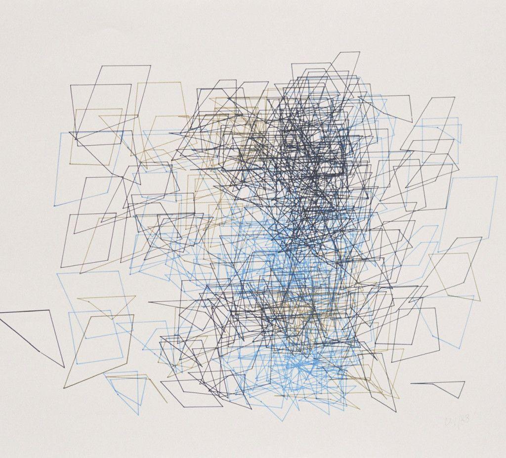 Vera Molnar,  plotterdrawing, 1989, DAM Gallery, Frankfurt / Berlin