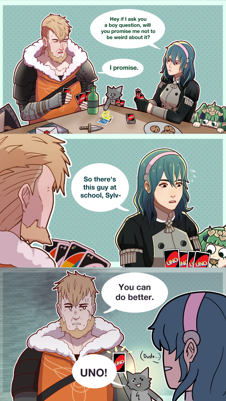 Based on a scene from Santa Clarita Diet | Fire Emblem: Three Houses #childhoodfriends