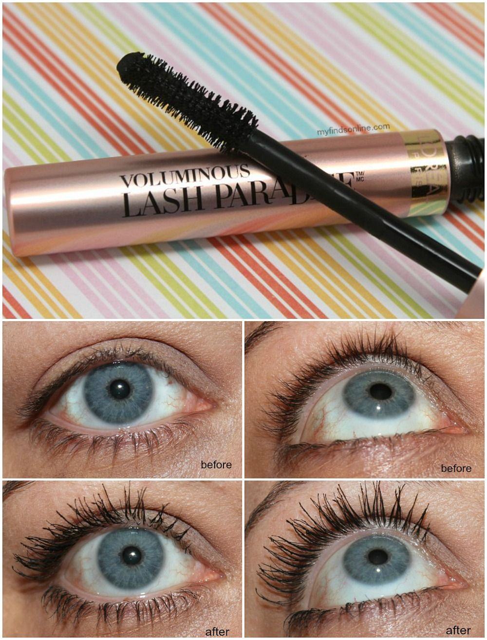 566c368ca93 L'Oreal Voluminous Lash Paradise Mascara Review and Swatches /  myfindsonline.com