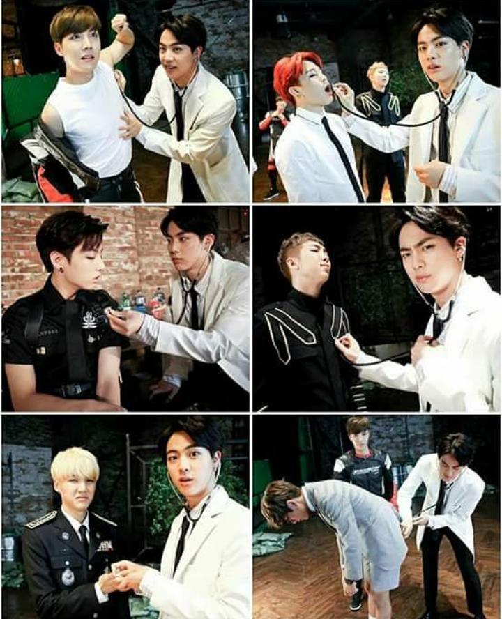 Jimin V Jungkook Wallpaper: Bts Jin Doctor Suga Jhope Rapmonster Namjoon V Taehyung