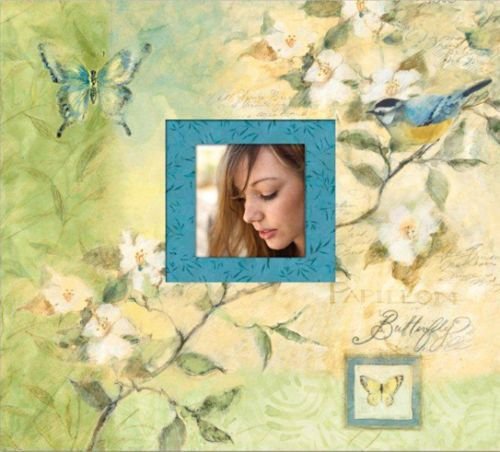 12x12 SCRAPBOOK Album K&Company Susan Winget Butterfly BOTANICAL New #KCompany