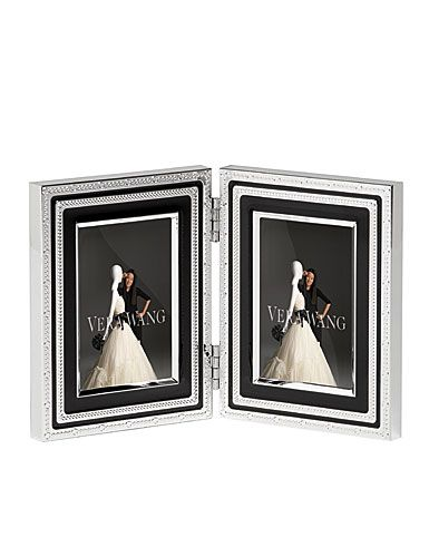 Vera Wang Wedgwood With Love Noir Folding Frame, 2X3\