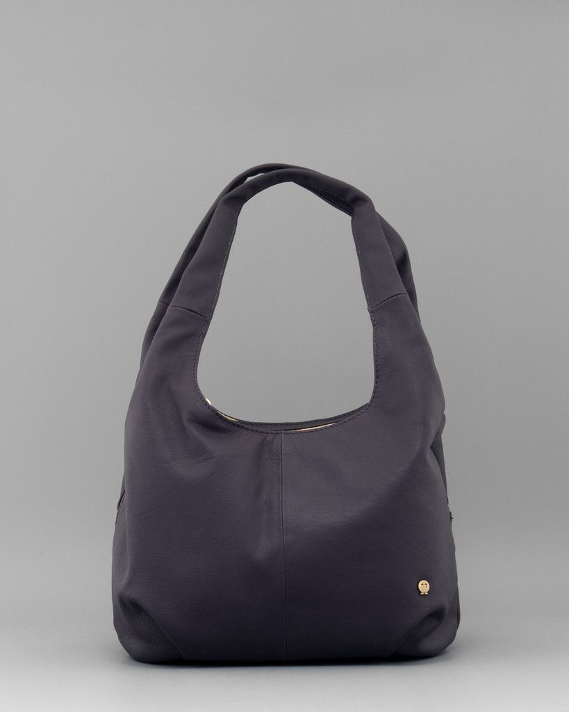 ae4ab075e6 Meehan Purple Leather Slouch Shoulder Bag by Yoshi A