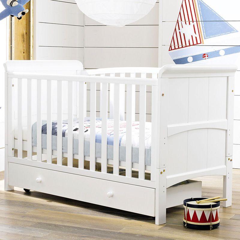 madera maciza clsico de la manera cuna cama para nios cuna cama bb 0 10 cunas - Cunas Blancas