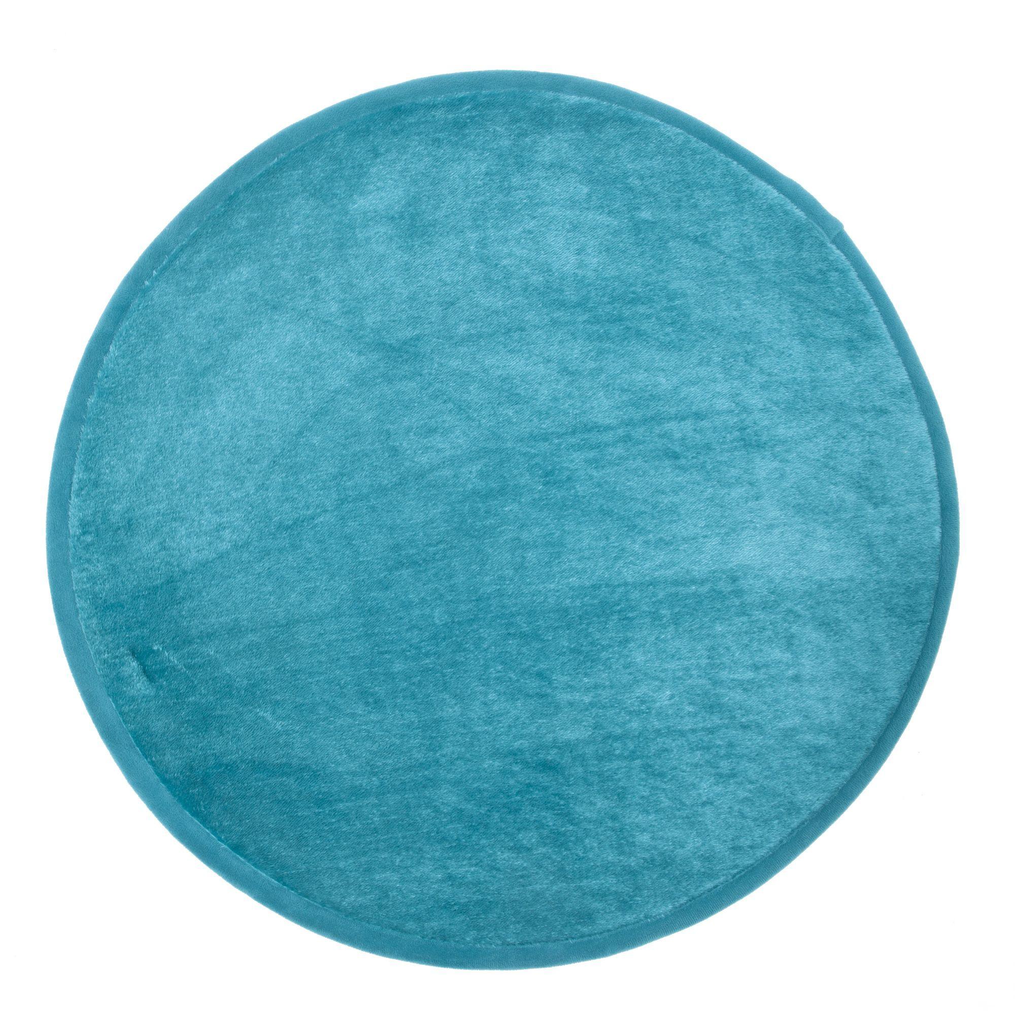 Tapis Rond Bleu Rubico Tapis Pour Chambre Et Salon Alinea Tapis Rond Tapis Descente De Lit
