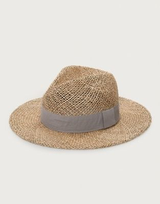 3f9f51bbad38e5 Seagrass Open Weave Fedora Hat | Hats & Scarves | The White Company ...