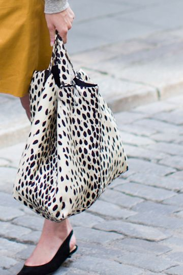 Emerson Shopper - Leopard Linen
