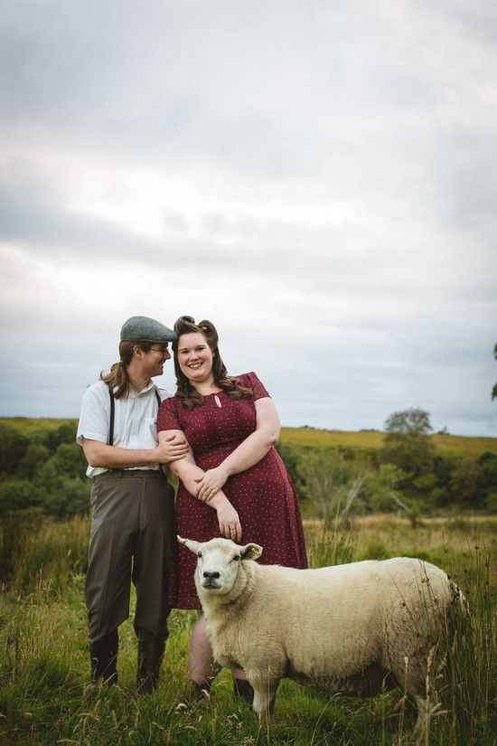 Real curvy engagement vintage irish couple in ireland creatrix photography pretty pear bride