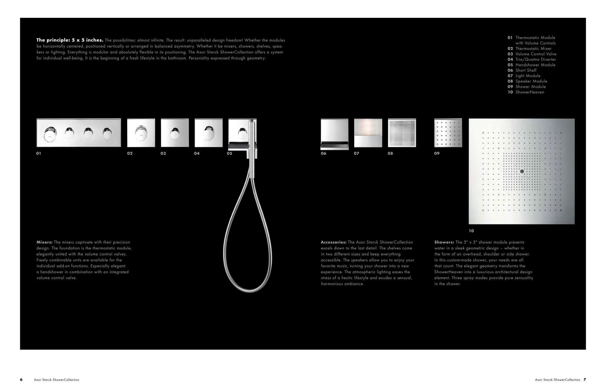 Hansgrohe AG Hansgrohe Axor Starck ShowerCollection_2009_3 | graphic ...