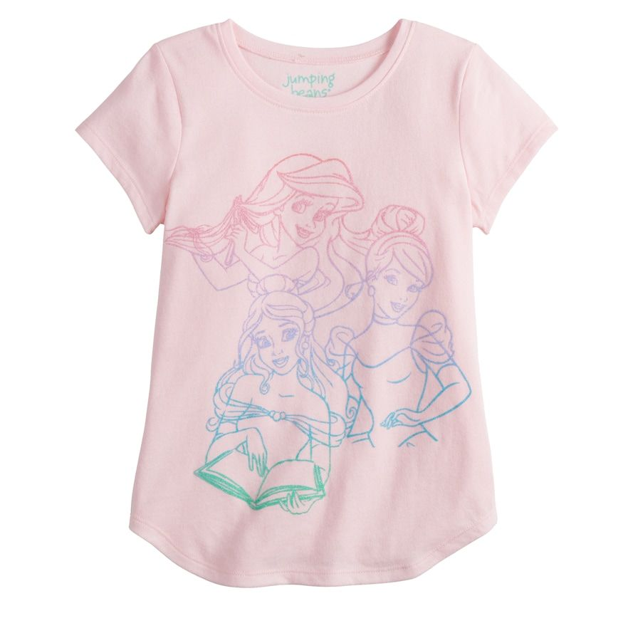 995d4790305f Disney's Belle, Cinderella & Ariel Girls 4-12 Glitter Graphic Tee by  Jumping Beans®, Brt Pink