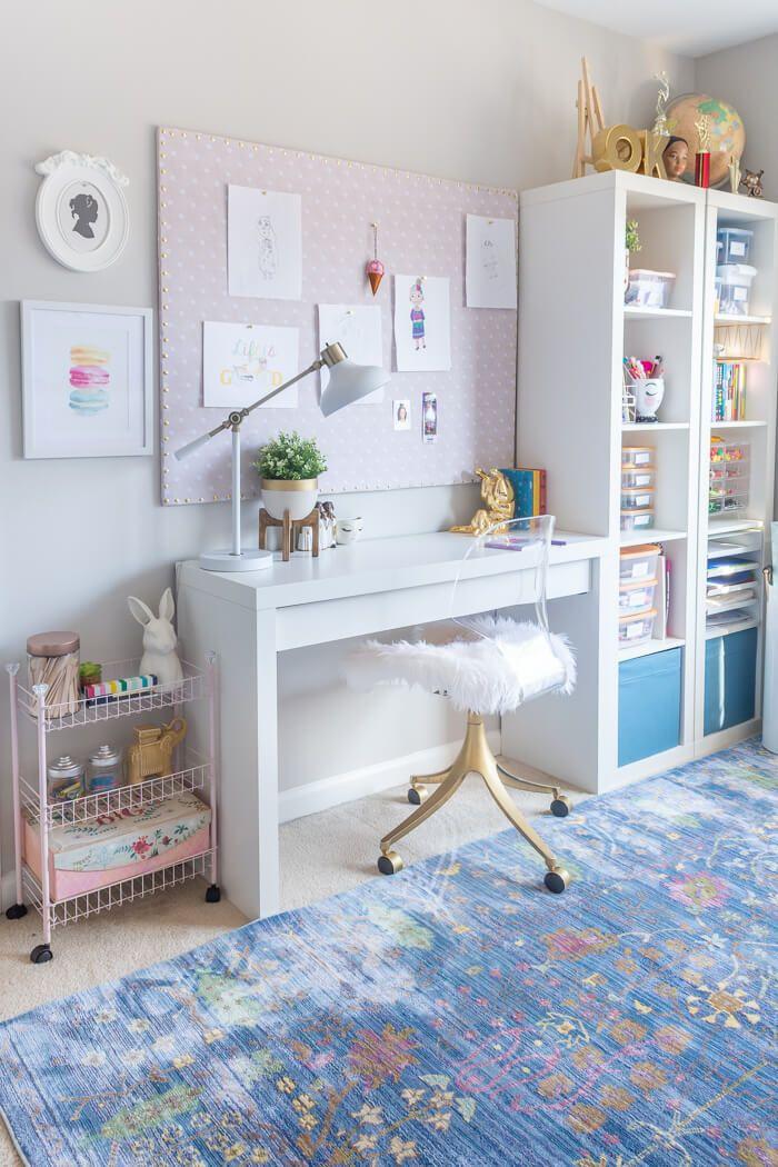 Girls Bedroom Refresh Reveal - $100 Room Challenge images
