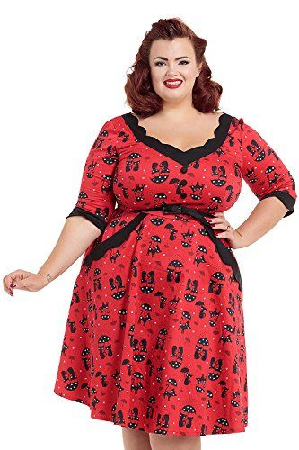 Fashion Bug Women Plus Size: Vintage Rockabilly Pin Up: UK ...
