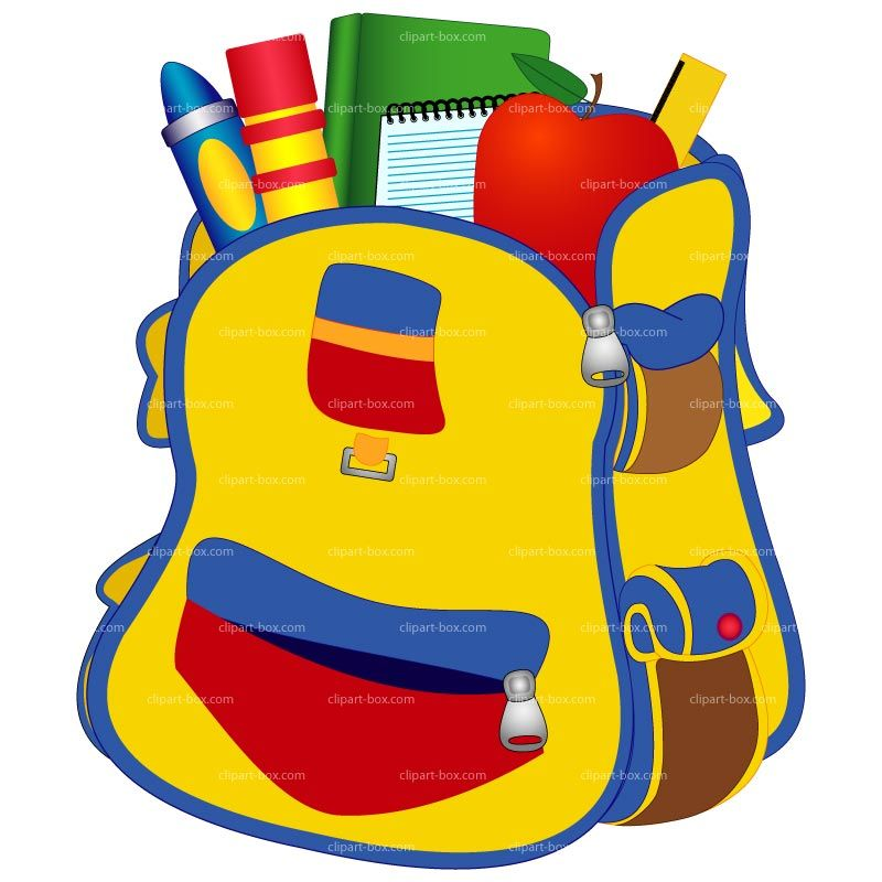 school backpack clipart clipart library free clipart images rh pinterest com
