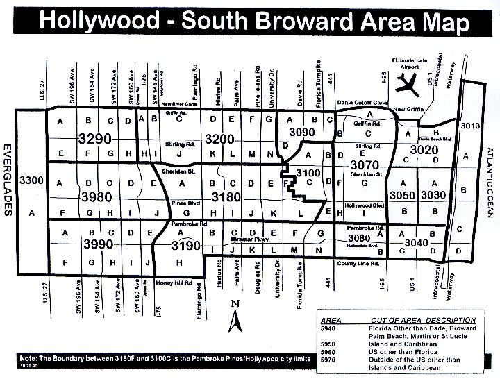 South Broward Area Map Miami Real Estate Maps And Graphics