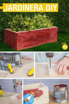Cómo hacer una jardinera de madera Pinterest Jardinera de madera - como hacer una jardinera