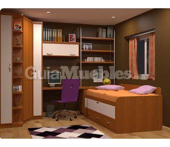 Dormitorio juvenil compacto cama nido 0 350 303 for Dormitorio juvenil compacto
