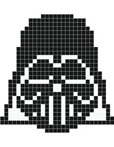 Pixels Dark Vador Pony Bead Patterns Pixel Art Cross