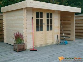 Cabane de jardin Munster en bois très design avec son toit plat ...
