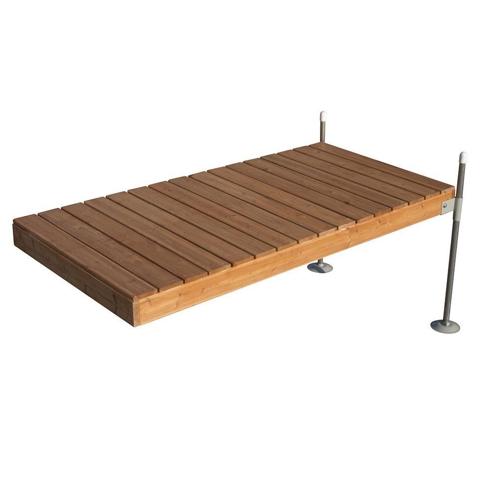 Tommy Docks 8 Ft Straight Cedar Complete Dock Package Cedar