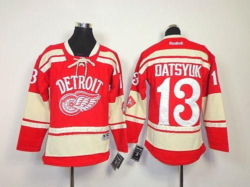 Red Wings  13 Pavel Datsyuk Red 2014 Winter Classic Stitched Youth NHL  Jersey Stay updated on sales 89cd846a9