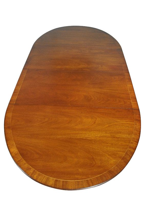 Vintage Baker Mahogany Dining Table Oval W By Aardvarkantiques