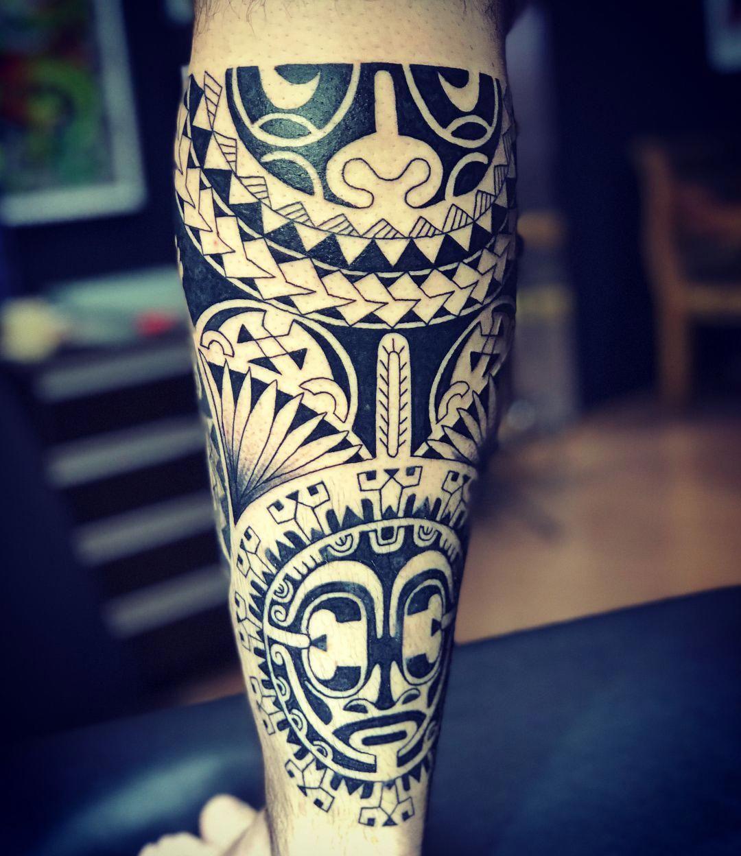 Marquesantattoos Tatuaje Maori Tatuajes Tatuajes Pierna
