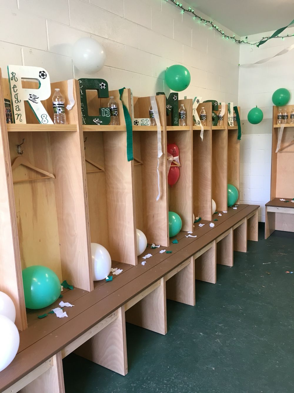 Soccer Locker Room Decorations Paper Mache Block Letters Spray Paint Paint Markers For Names And Numbers Locker Room Decorations Locker Room Soccer Locker