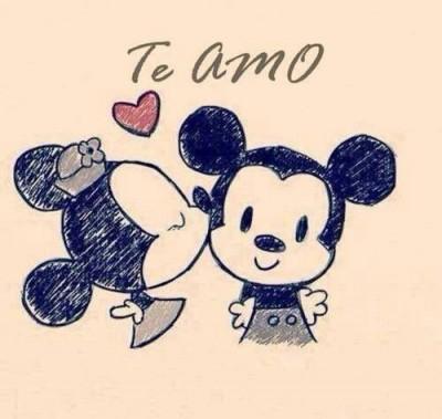 Amor Con Movimiento Y Brillo Bellas Y Romanticas Mickey Minnie Disney Characters