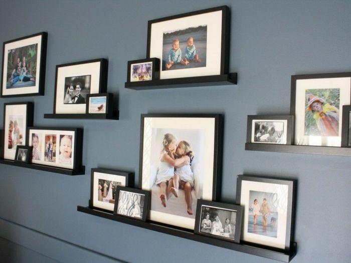 ▷ 1001+ Ideen für Bilderleiste dekorieren für fröhliches Ambiente #wandregaledekorieren