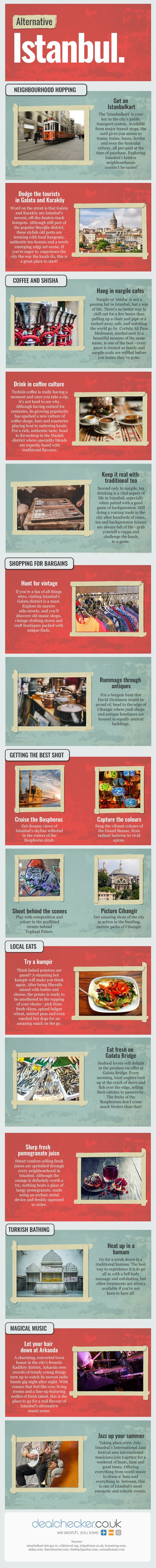 An Alternative Guide to Istanbul #infographic