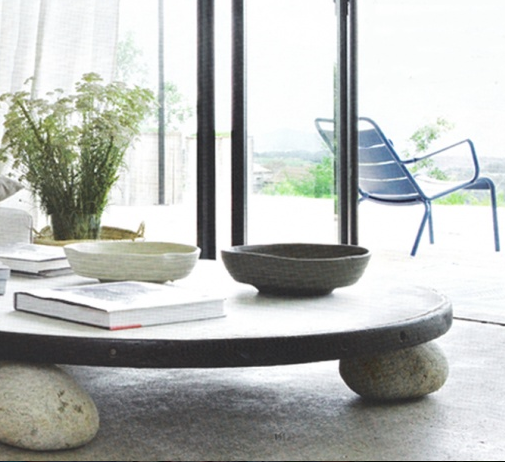 Stone Top Outdoor Coffee Table: All You Need Are 3-4 Stones That Are Very Similar In