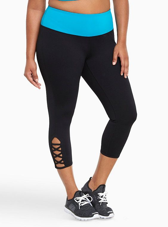 b41c9e4d81561 Active - Colorblock Strappy Cropped Leggings in 2019   Lookin' Fly ...