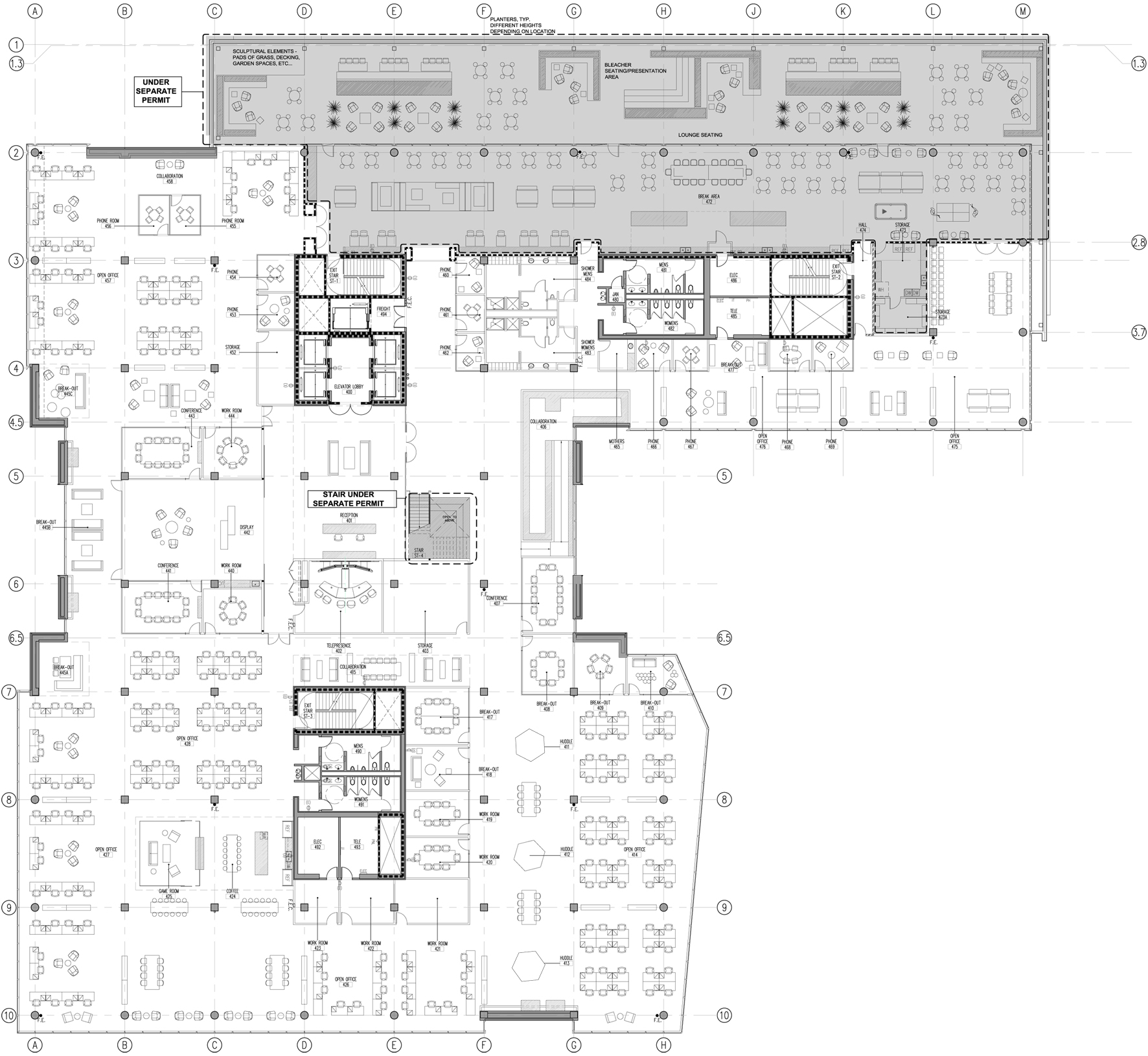 office plan interiors. Image 33 Of 34 From Gallery Cisco Offices / Studio O+A. Fourth Floor Plan Office Interiors G