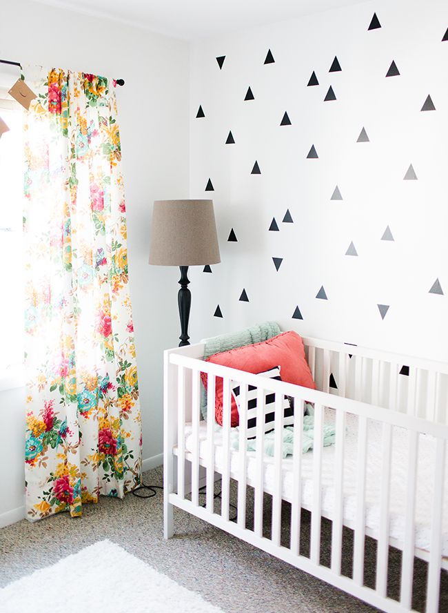Curtains For Baby Girl Nursery: Black, White, & Coral Baby Girl Nursery