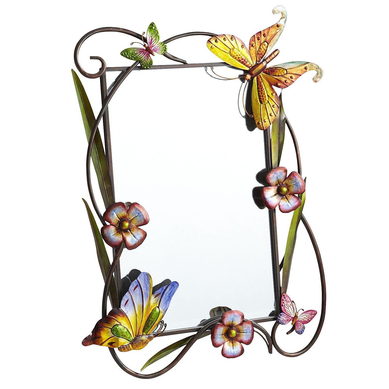 Butterfly & Flower Mirror - Pier1 US