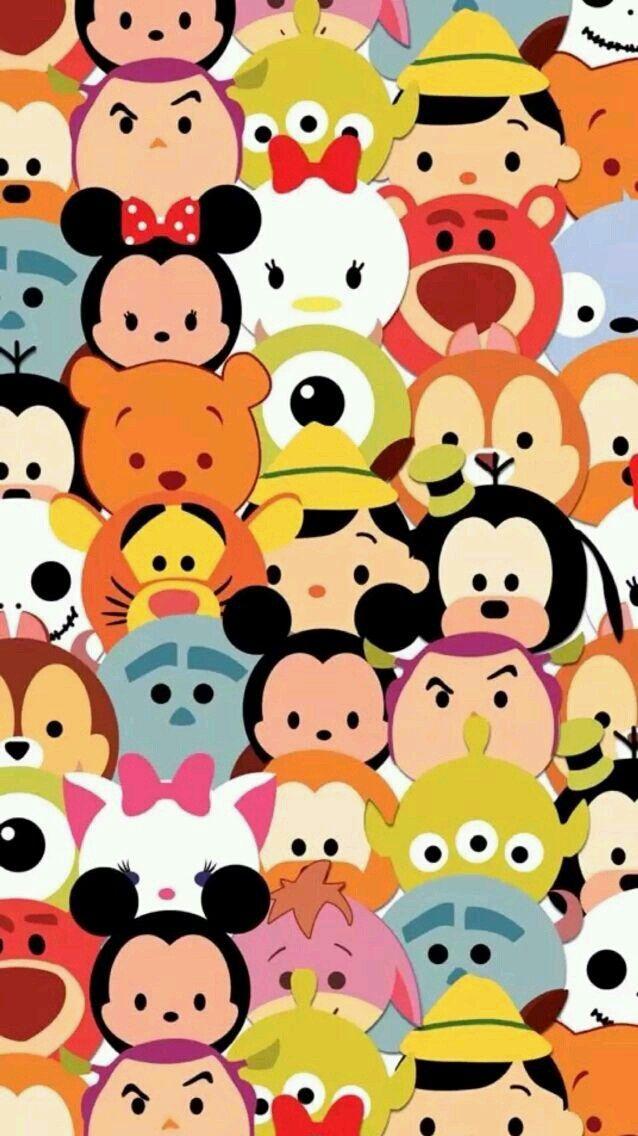 Disney Tsum Tsum Emoji Wallpaper Pinterest Disney Tsum Tsum